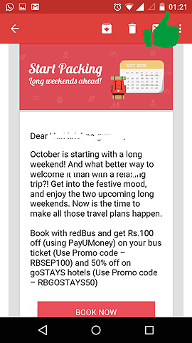 Mobile friendly mailer