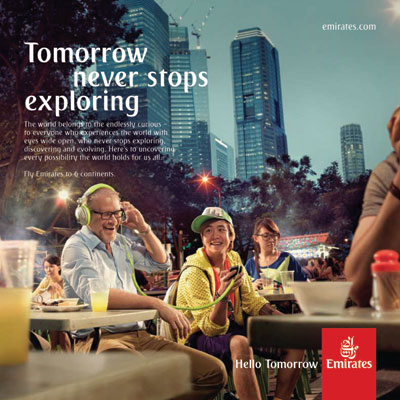 Emirates new branding - 'Hello Tomorrow' captures passion for connecting peoples hopes, dreams and aspirations