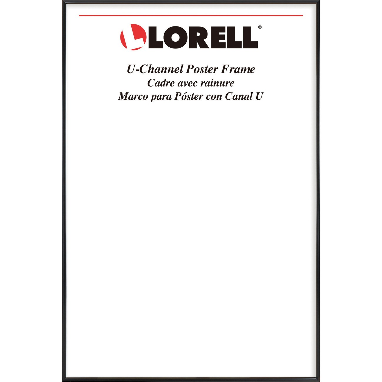 lorell poster frame 18 x 24 frame size rectangle horizontal vertical 1 each black item 7424268