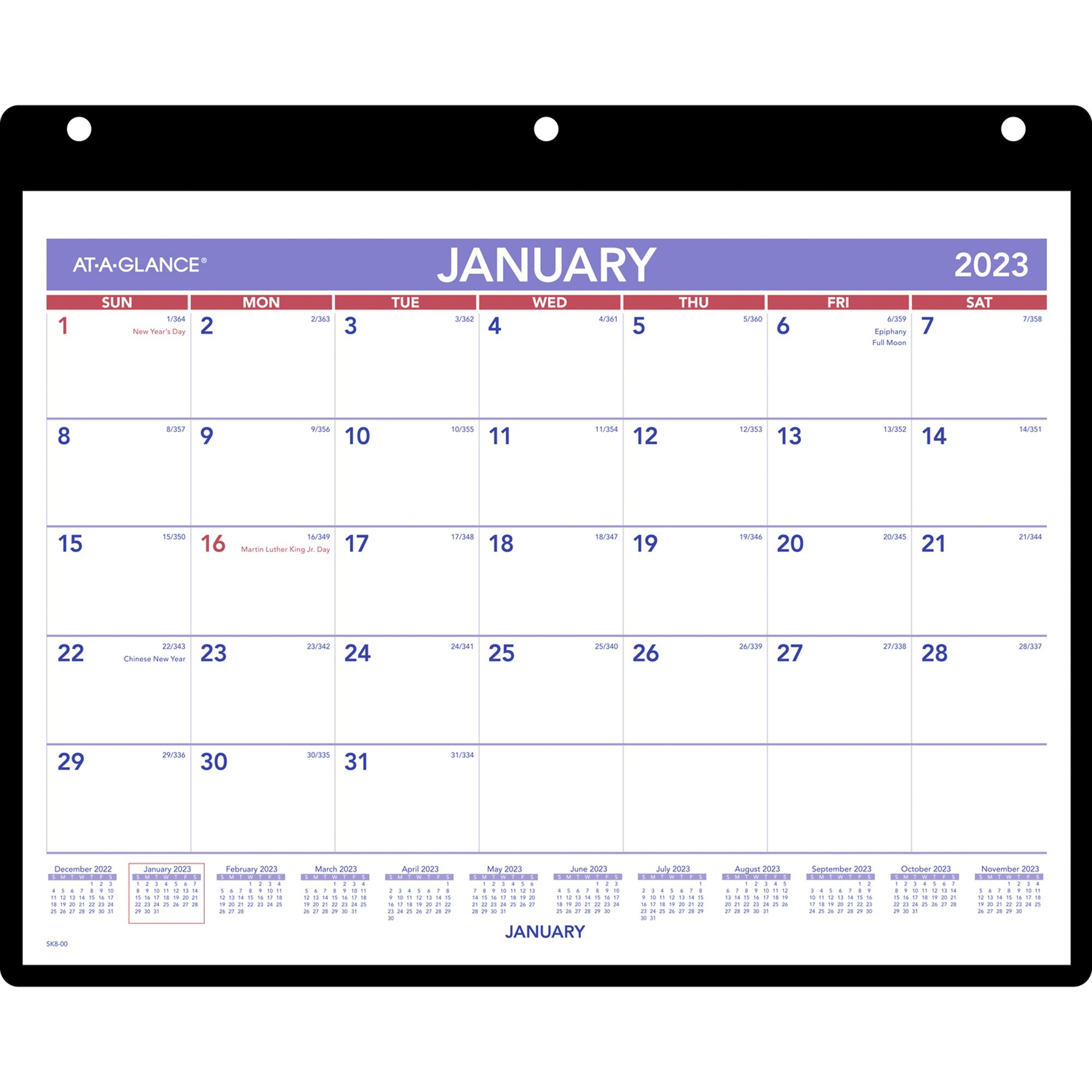 AAGSK800 AtAGlance Monthly DeskWall Calendar with Poly