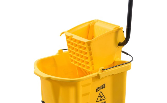 Genuine Joe Splash Guard Mop Bucket Wringer Madill The