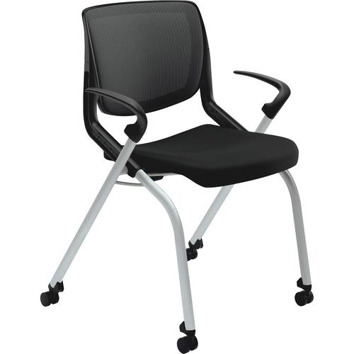 hon ignition fabric chair antique wood rocking styles back multipurpose stacking foam seat motivate nesting black platinum metallic