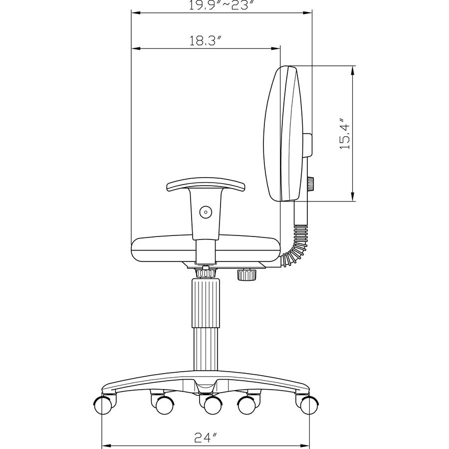 LLR80004 Lorell Millenia Pneumatic Adjustable Task Chair