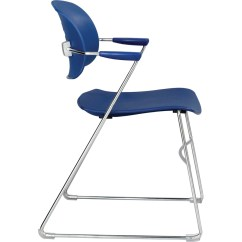 Flex One Folding Chair Hip Replacement Safco Veer Back Stack With Arm Saf 4286bu