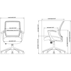 Diagram Of Pneumatic Office Chair Driving Light Wiring Toyota Lorell Executive Mid Back Work Black Seat 5 Star Base Item