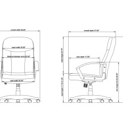 seat depth diagram wiring diagram show lorell executive fabric mid back chair fabric gray seat fabric [ 3000 x 3000 Pixel ]