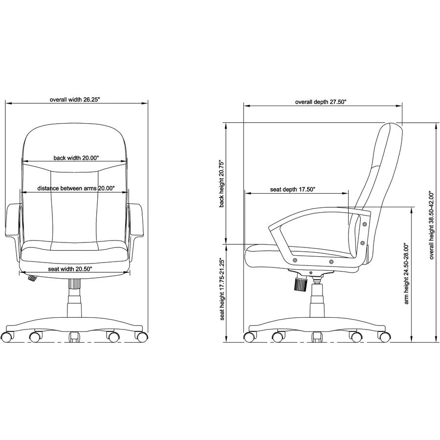 medium resolution of seat depth diagram wiring diagram show lorell executive fabric mid back chair fabric gray seat fabric