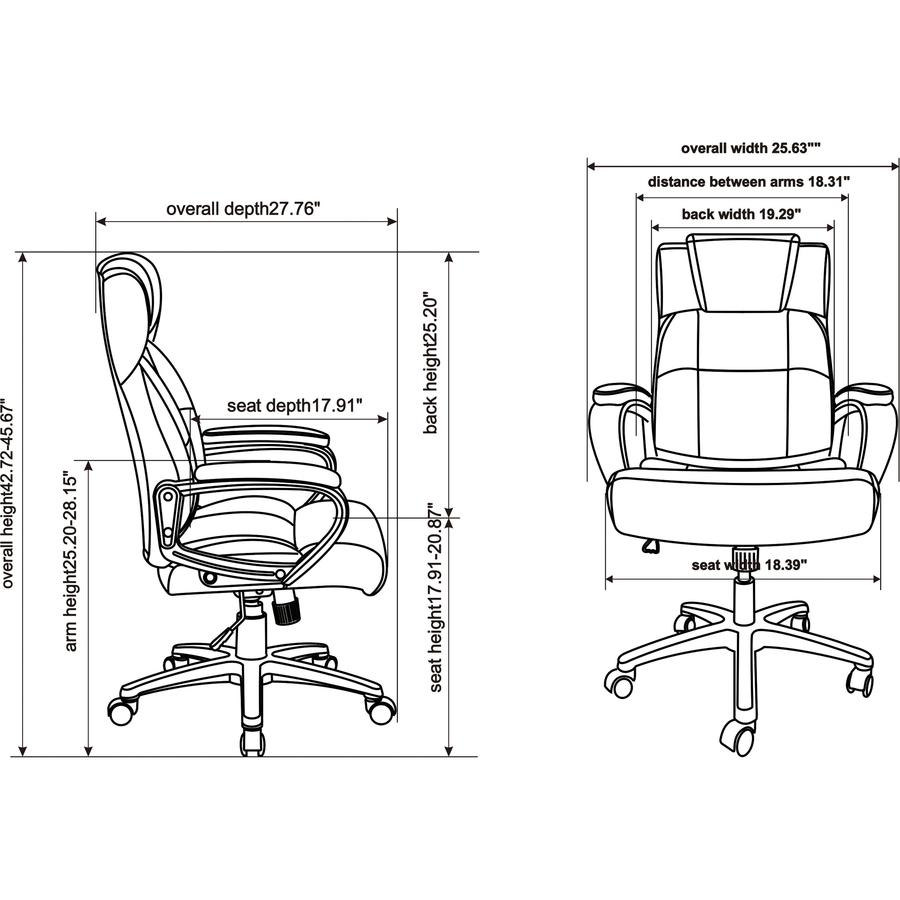 Lorell Soho High Back Leather Executive Chair