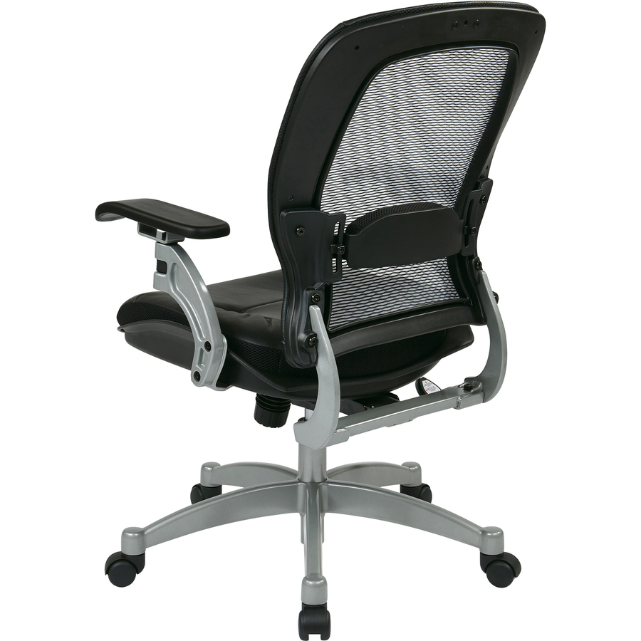 office chair under 3000 mobile phone holder star space professional air grid back managerial mid leather black seat