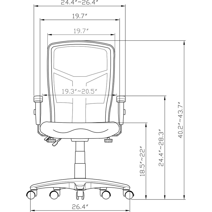 diagram of pneumatic office chair 1992 ford ranger wiring lorell 86000 series executive mesh back llr86200 alternate image2