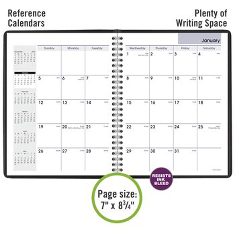 At-A-Glance DayMinder Recycled Monthly Planner Book