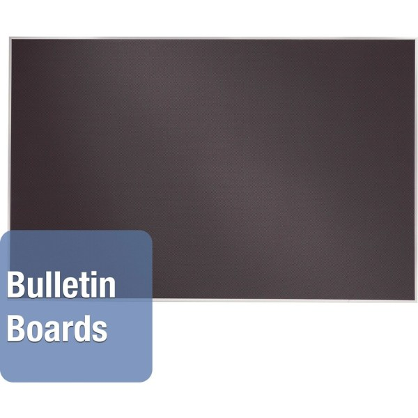Quartet Oval Office Frameless Fabric Tack Bulletin Board