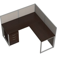 Steel Chair Bush Irving Leather Business Furniture Easy Office 60w L Desk Open