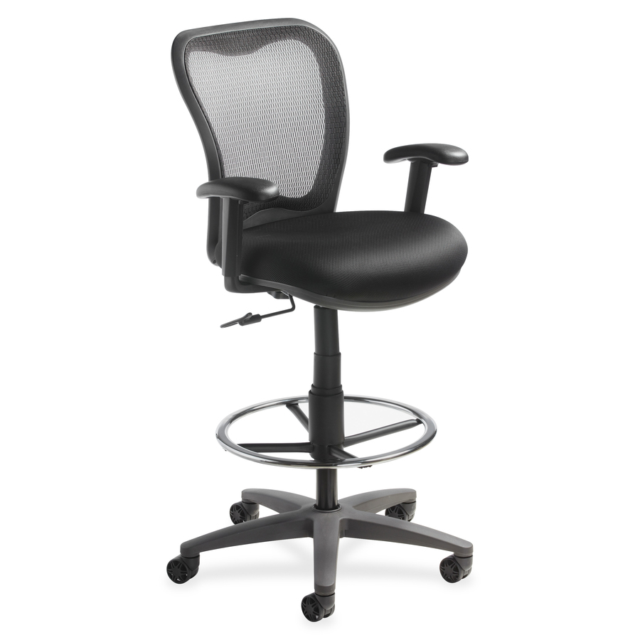 best drafting chairs christmas chair covers amazon lorell mesh back stool llr25981 supplygeeks