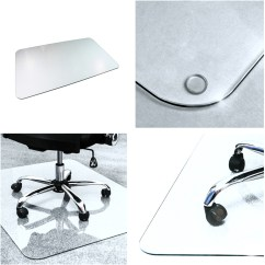 Office Chair Mat 48 X Sit To Stand Norms Cleartex Glaciermat Glass