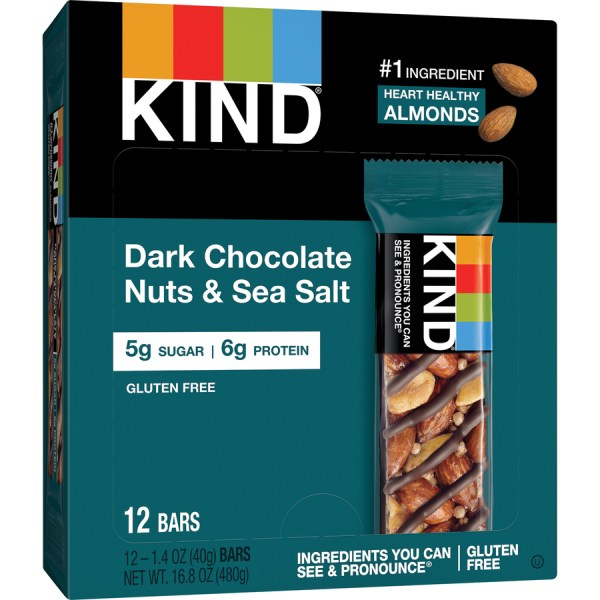 KIND Dark Chocolate NutsSea Salt Snack Bars