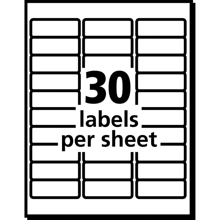 Avery Matte Clear Easy Peel Address Labels Ave