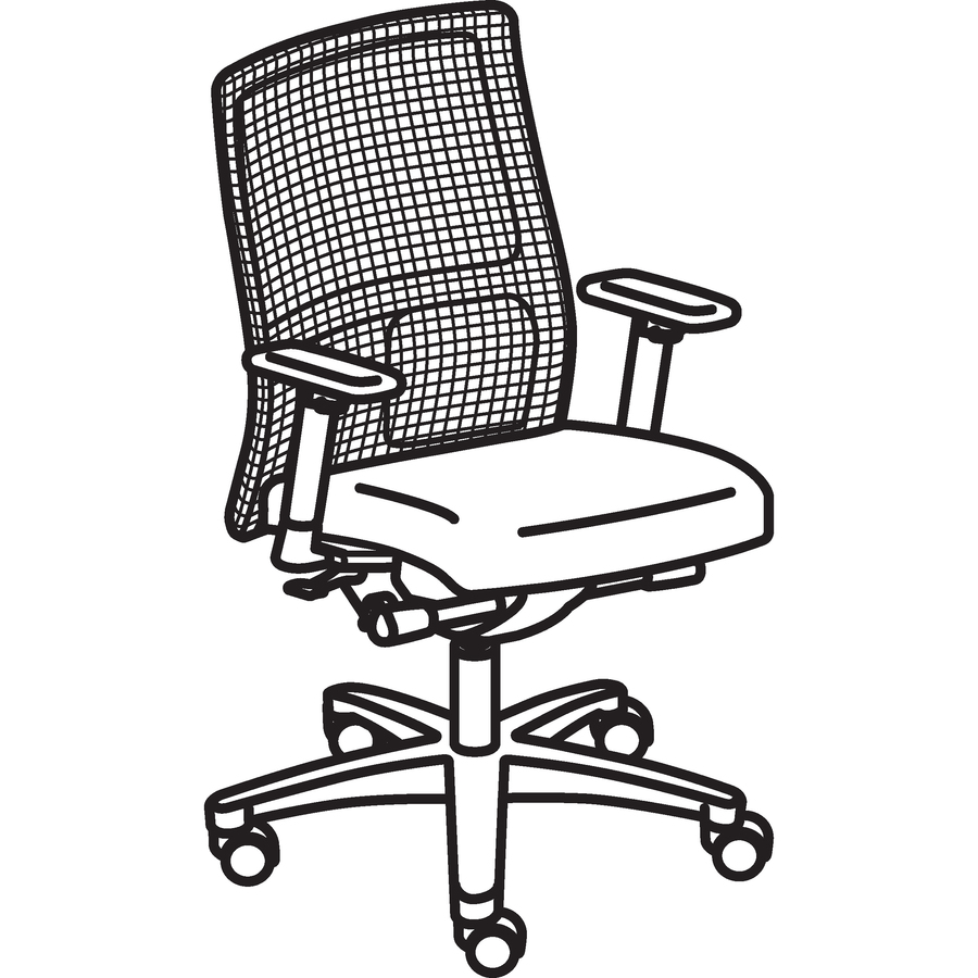 hon ignition fabric chair for 2 year old honiw103nt10 mid back mesh task