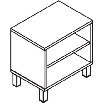 Lorell Concordia Series Latte Upper Desk Cabinet