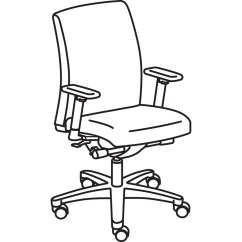 Hon Ignition Fabric Chair Mima Moon High Big And Tall Office Pros Honiw801cu42 Alternate Image1 Swatch Original Frame Line Art