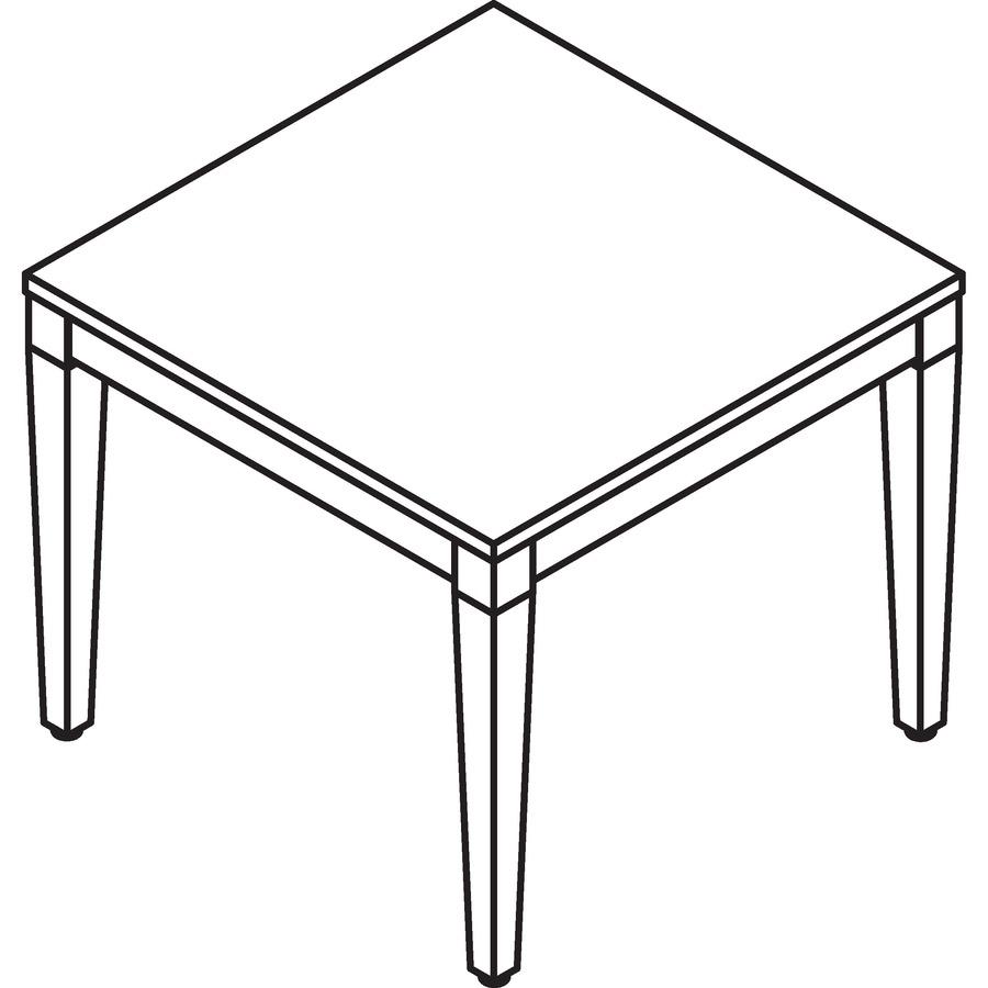 Lorell Mahogany Finish Solid Wood Corner Table