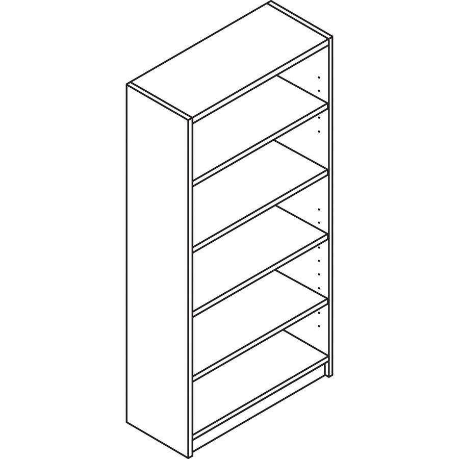 Hon Foundation 5 Shelf Bookcase