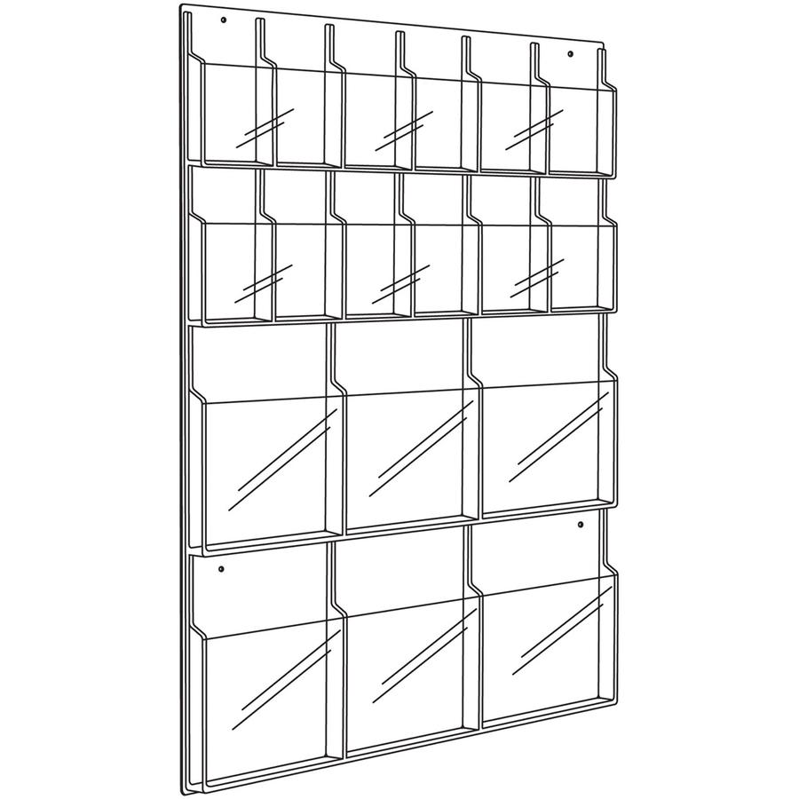 Safco Magazine/Pamphlet Display Rack