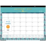 Blue Sky Sullana Design Calendar Desk Pad Julian Dates Monthly 1 Year January 2021 Till December 2021 Desk Pad Teal 17 Height X 22 Width