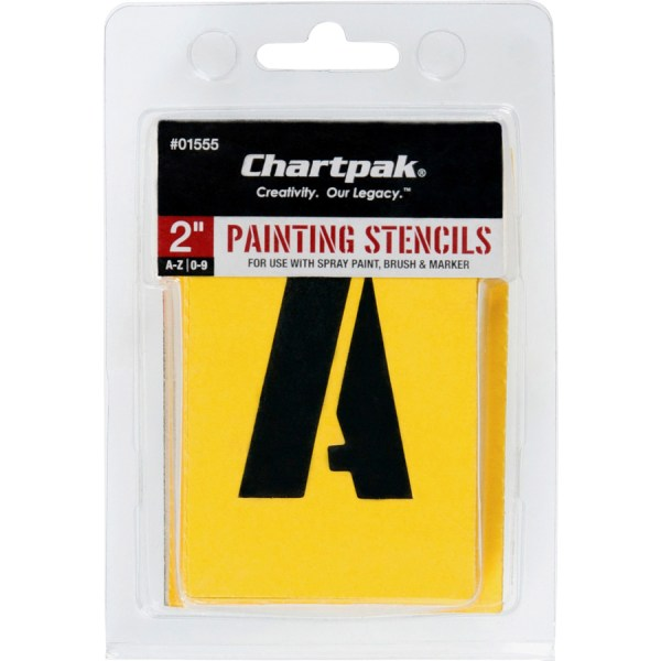 "Chartpak Painting Letters Numbers Stencils - 2"" Gothic"
