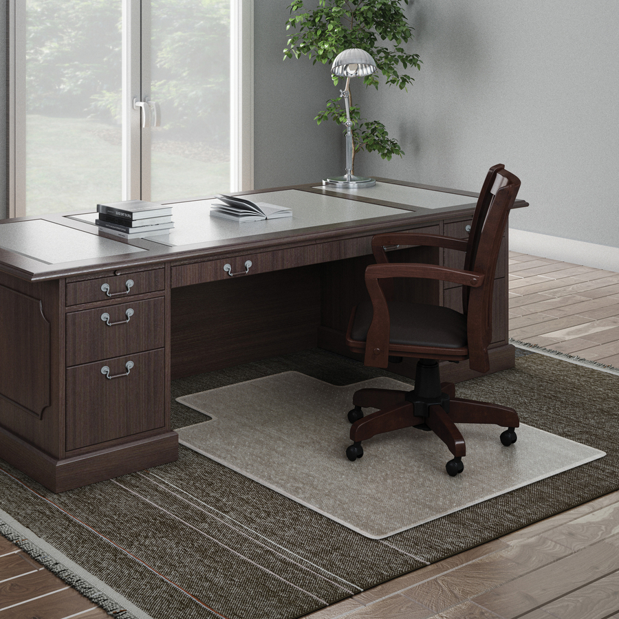 High Chair Floor Mat Deflecto Execumat Wide Lip High Pile Chairmat