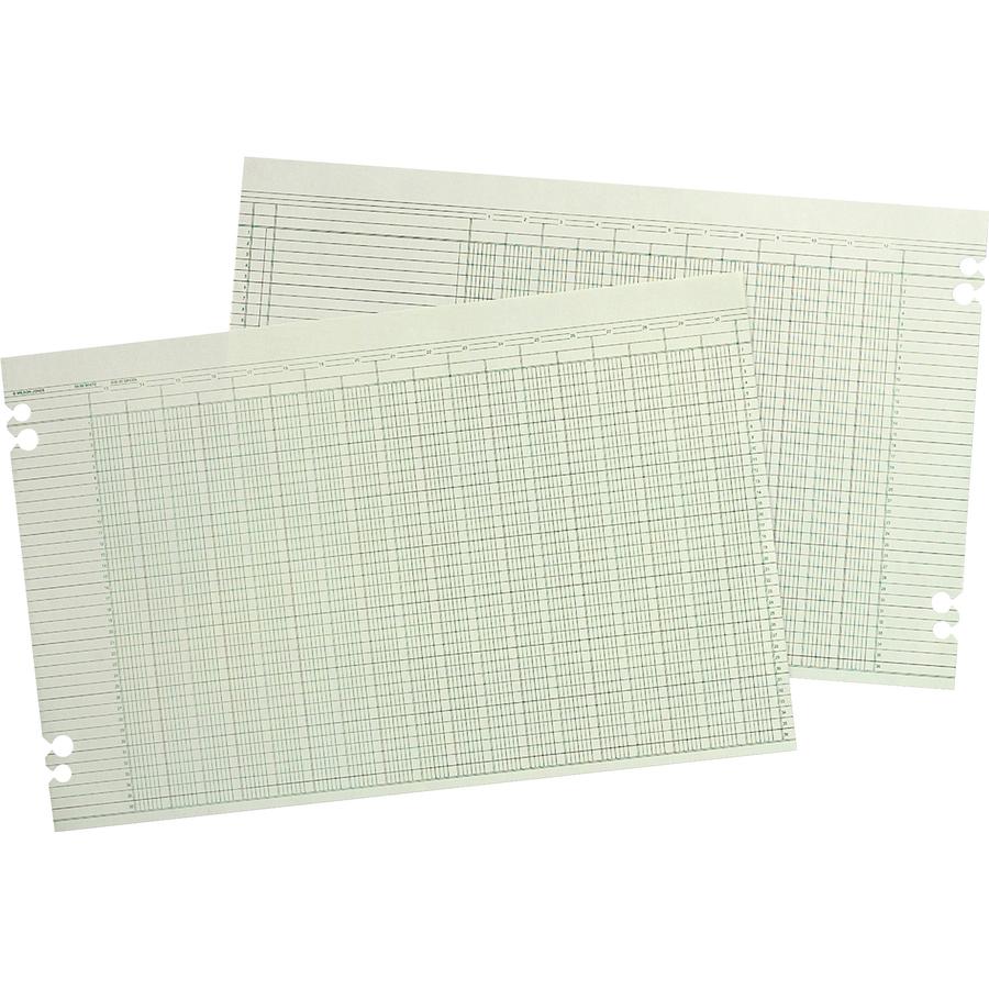Wilson Jones Columnar Ruled Sheets 11 X 17 36 Lines 30 Columns 100 Pack
