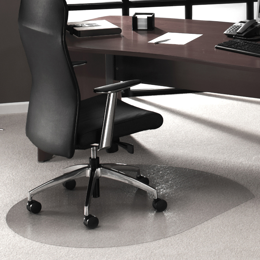 Desk Chair Mat For Carpet Cleartex Lowith Med Pile Contoured Chairmat