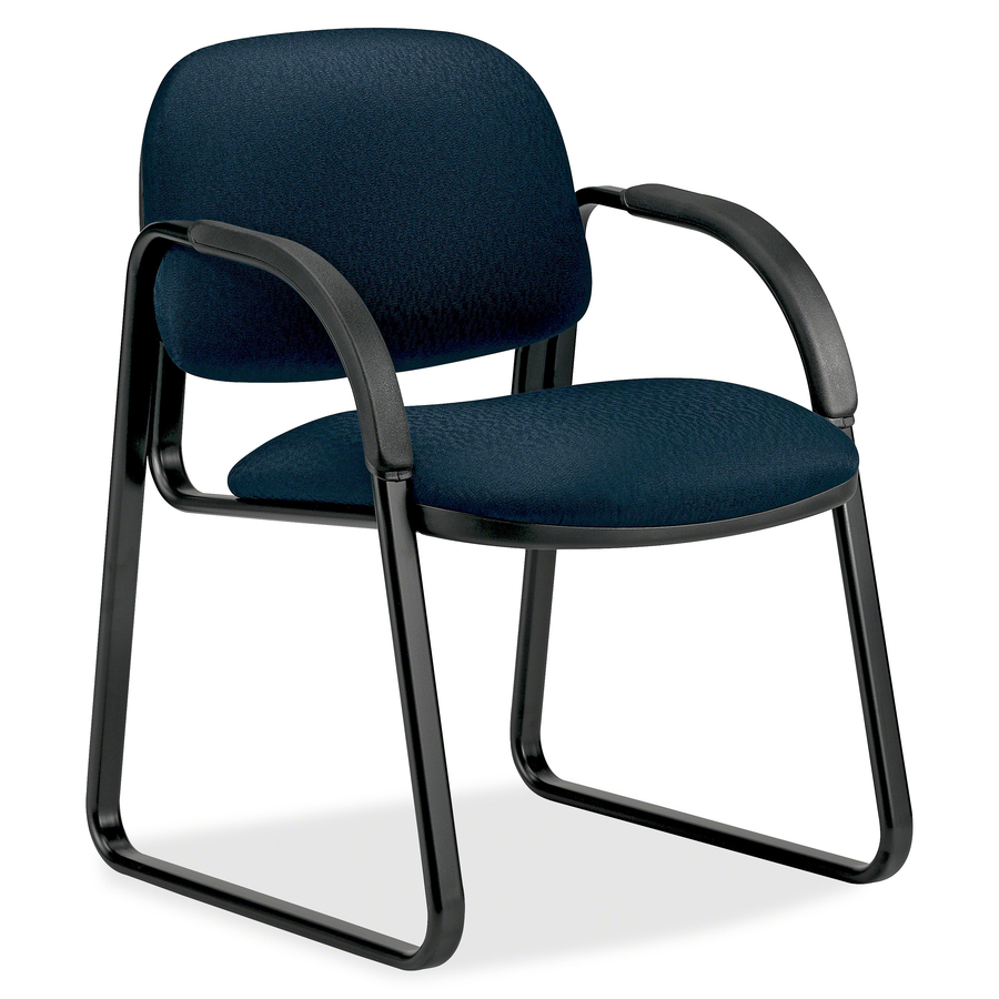 steel chair for office stackable chairs costco hon sensible seating 6008 sled base guest r a supplies original