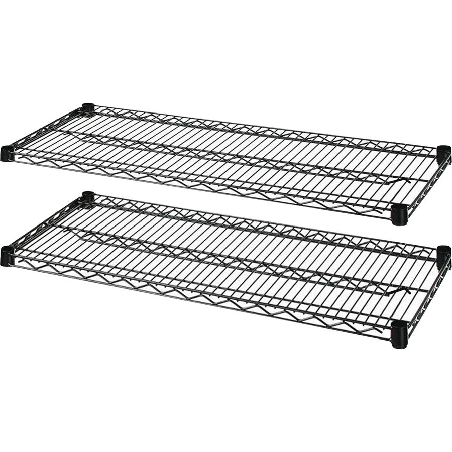 Lorell Industrial Black Wire Shelving