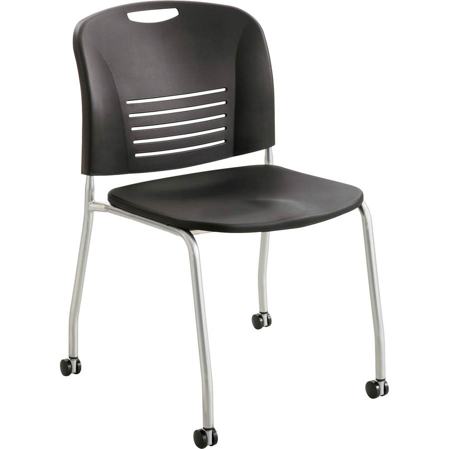 staples stacking chairs ergonomic chair singapore review safco vy straight leg stack with casters