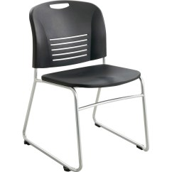Staples Stacking Chairs Zero Gravity Lounge Chair Safco Vy Sled Base Stack Servmart