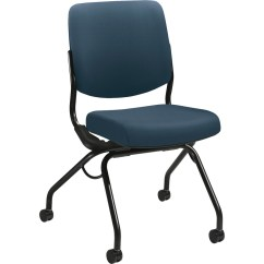 Armless Folding Chair Modern Brown Leather Desk Hon Perpetual Nesting Zerbee
