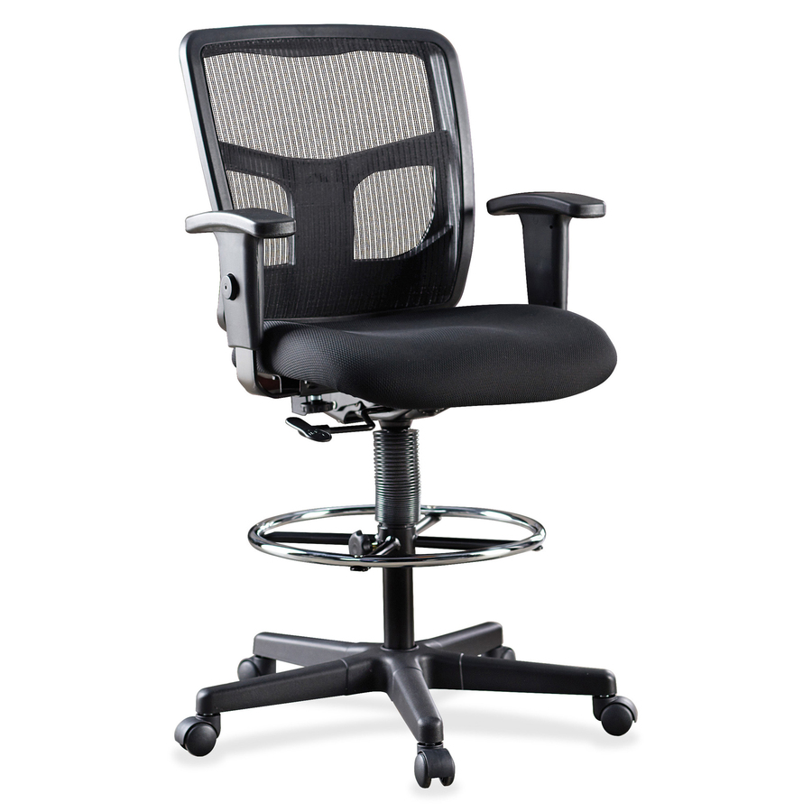 chair mesh stool gaming chairs for pc lorell ratchet back mid llr86801