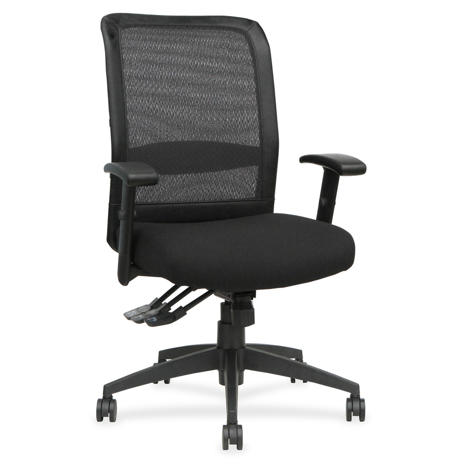 mesh back chairs for office mid century table and llr62105 lorell executive high multifunction