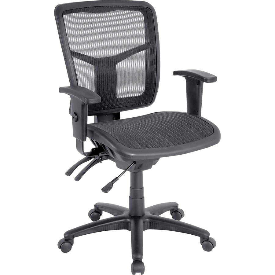 How To Adjust Office Chair Lorell Mid Back Swivel Mesh Chair