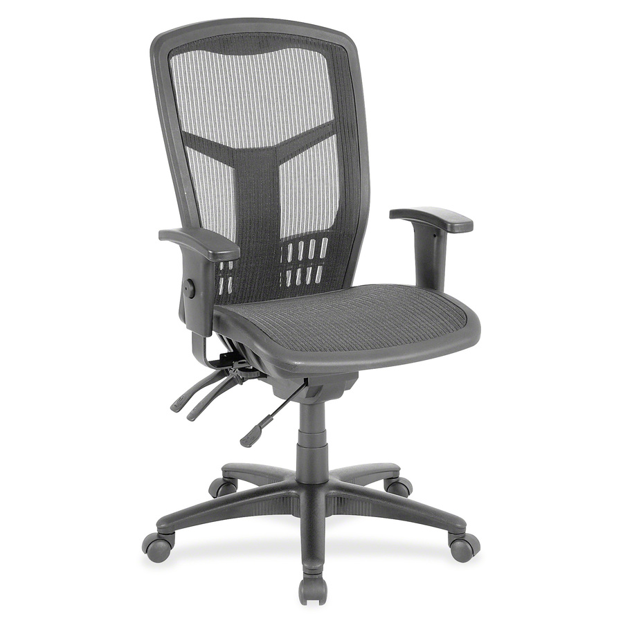 chair mesh stool black club lorell executive high back llr86905