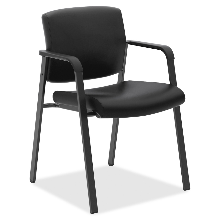 hon guest chairs kids spinning chair bsxvl605sb11 validate stacking office supply hut softhread leather black seat back four legged base 23 5 width x 24 depth 34 height