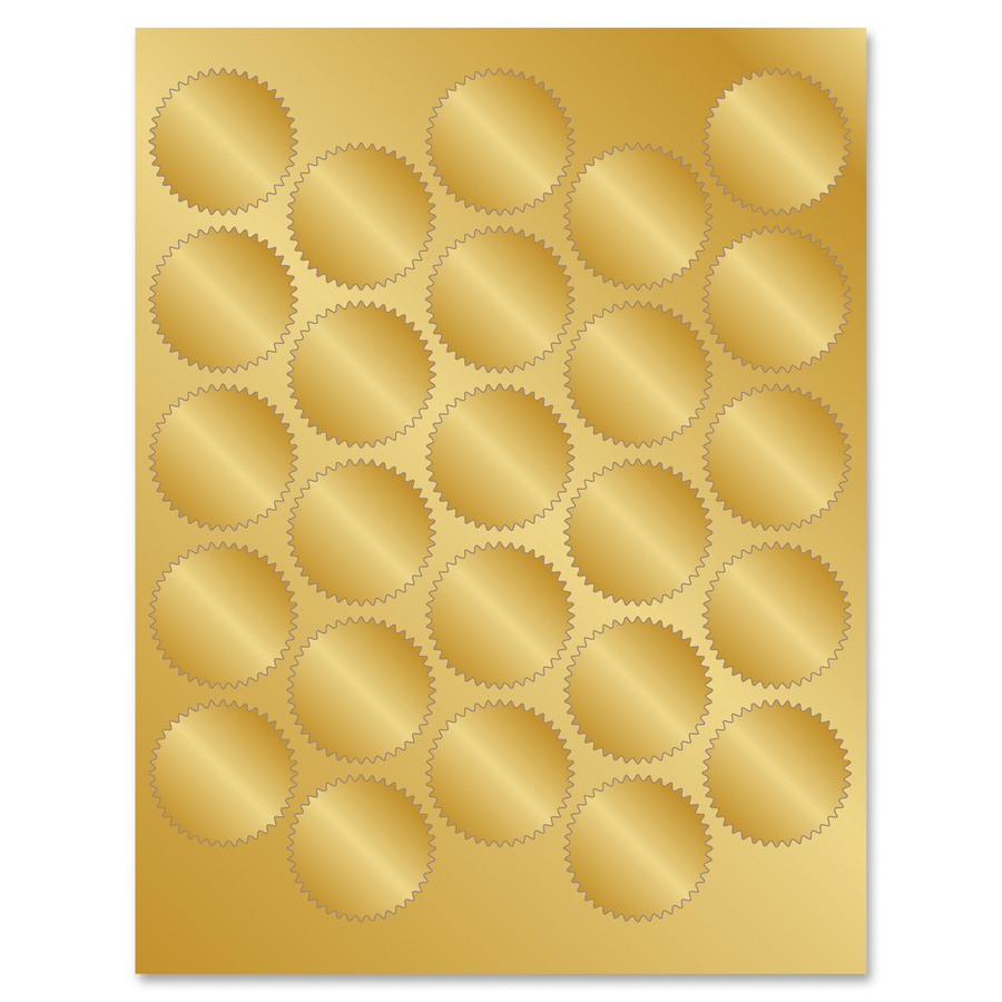 geographics gold foil seals