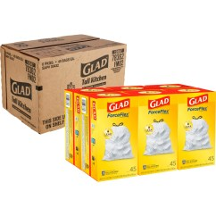 Glad Tall Kitchen Drawstring Trash Bags Caninets