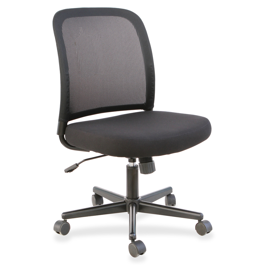 Armless Office Chairs With Wheels Lorell Mesh Back Armless Task Chair Rrofficesolutions