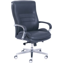 La Z Boy Black Leather Executive Office Chair Uk Icomfort Ic1124 Therapeutic Massage Lzb48346 Comfortcore Gel Seat