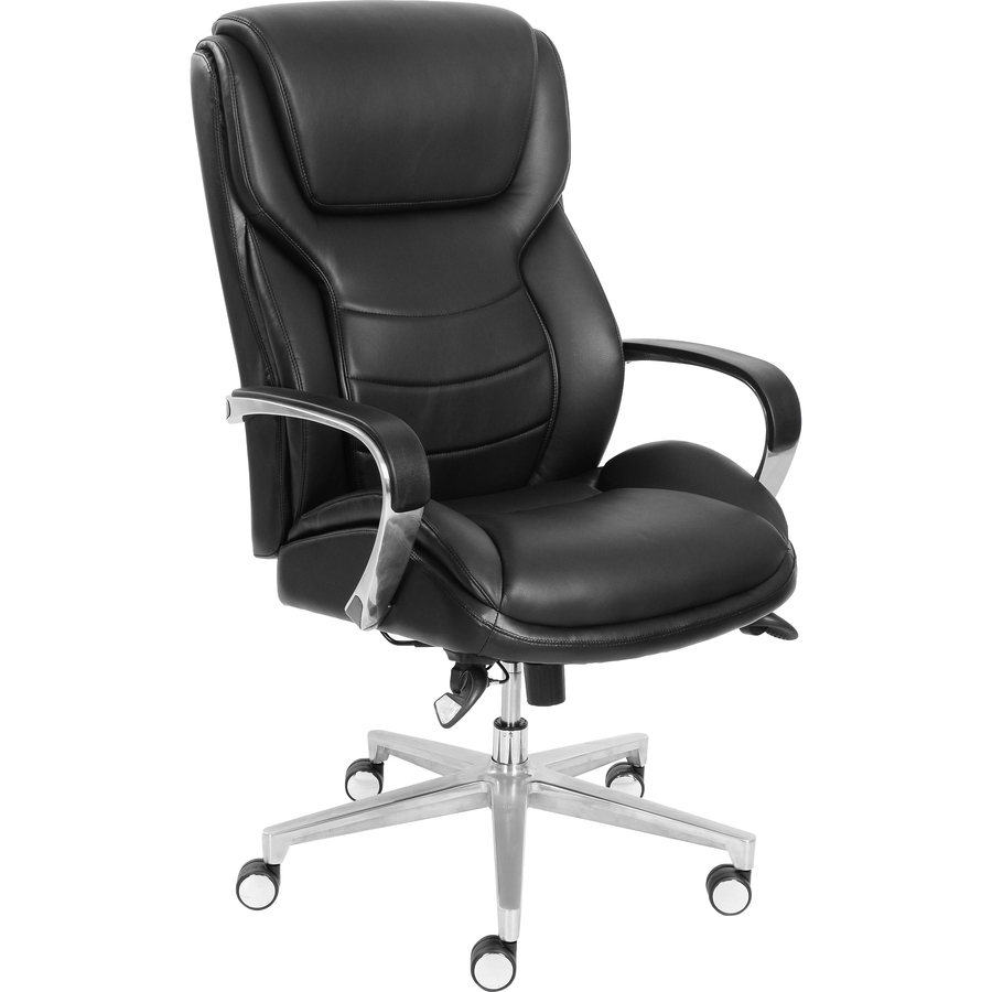 la z boy black leather executive office chair uk toddler and ottoman comfortcore gel seat