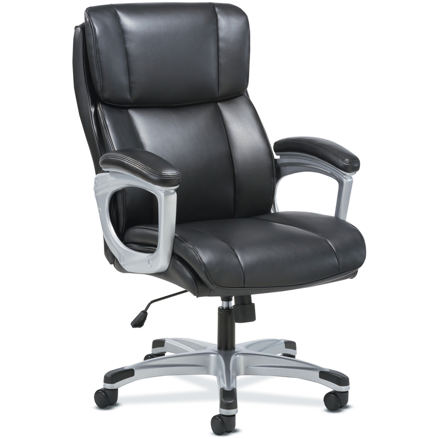 Executive Leather Chair Sadie 3 Fifteen Executive Leather Chair Plush Black Bonded Leather Seat Plush Black Bonded Leather Back 5 Star Base 19 25