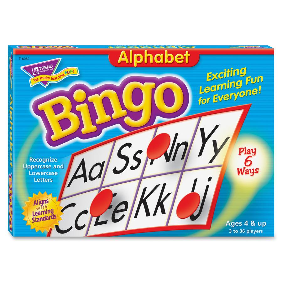 Trend T Trend Alphabet Learners Bingo Game Tept