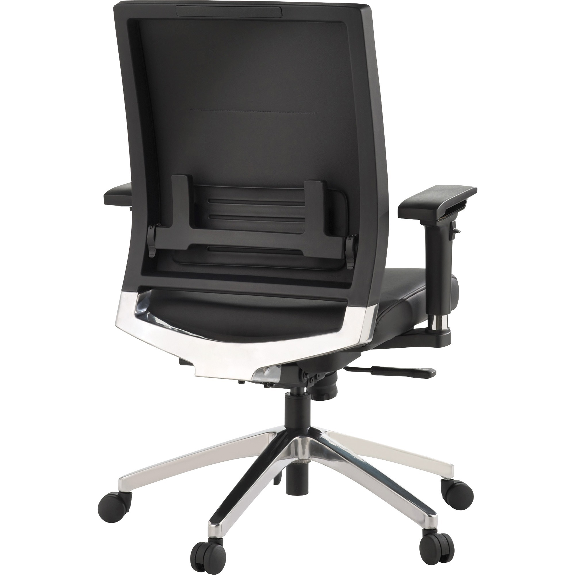 Lorell Lower Back Swivel Executive Chair  Leather Black